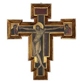 Crocifisso Santa Croce di Cimabue 60x55 cm s1