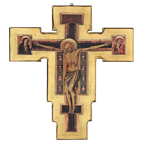 Crocifisso Santa Maria Novella di Giotto 60x60 cm 1