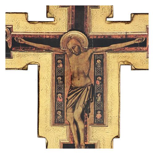 Crocifisso Santa Maria Novella di Giotto 60x60 cm 2