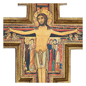 San Damiano Cross in wood paste, printed 40x35 cm s2