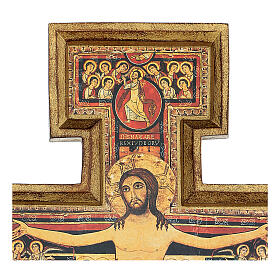 San Damiano Cross in wood paste, printed 40x35 cm s3