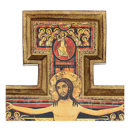 San Damiano Cross in wood paste, printed 40x35 cm 3