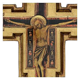 Croce in pasta di legno San Damiano 40x35 cm s2