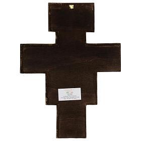 Croce in pasta di legno San Damiano 40x35 cm s5