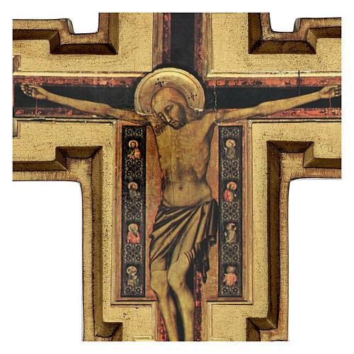 Croce in pasta di legno San Damiano 40x35 cm 2