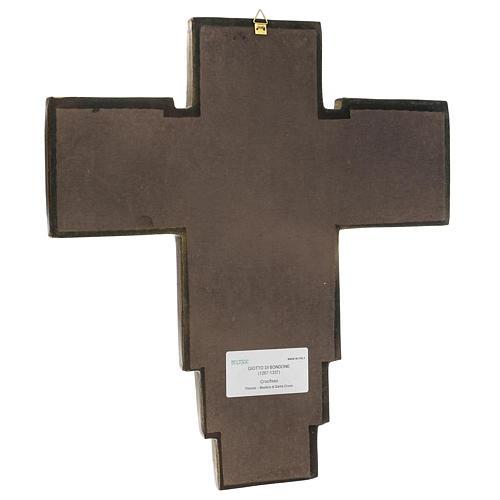 Croce in pasta di legno San Damiano 40x35 cm 3