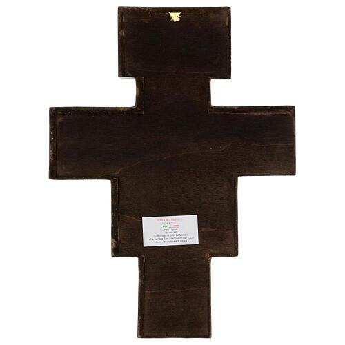 Croce in pasta di legno San Damiano 40x35 cm 5