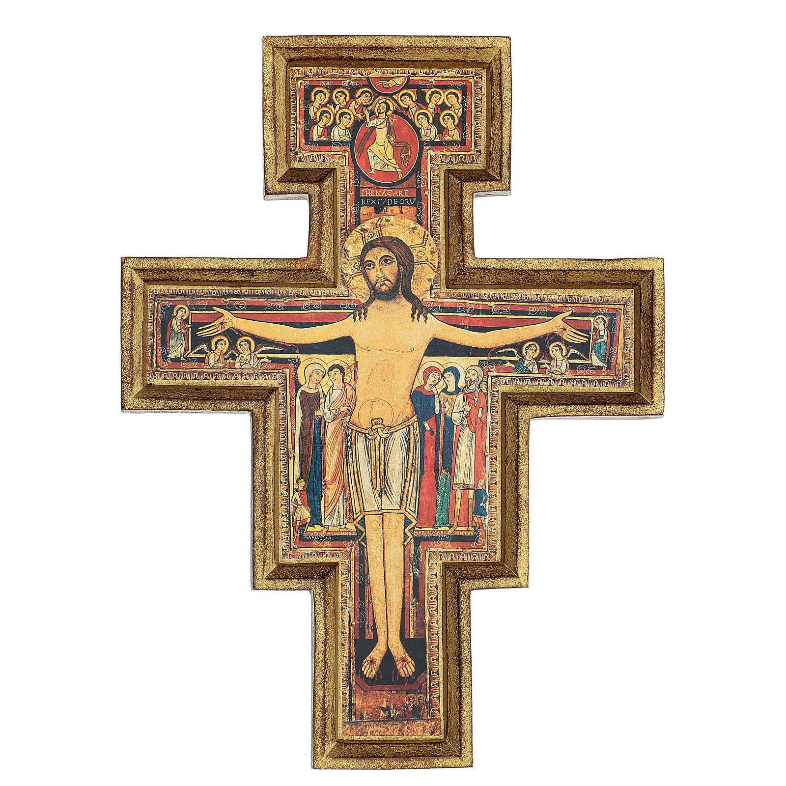 Wood paste San Damiano Cross, printed 40x35 cm 4