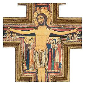 Wood paste San Damiano Cross, printed 40x35 cm s2