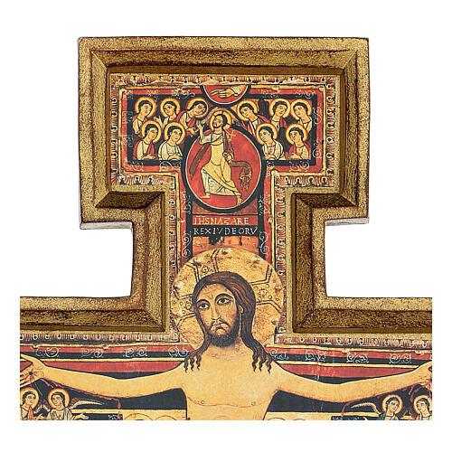 Wood paste San Damiano Cross, printed 40x35 cm 3