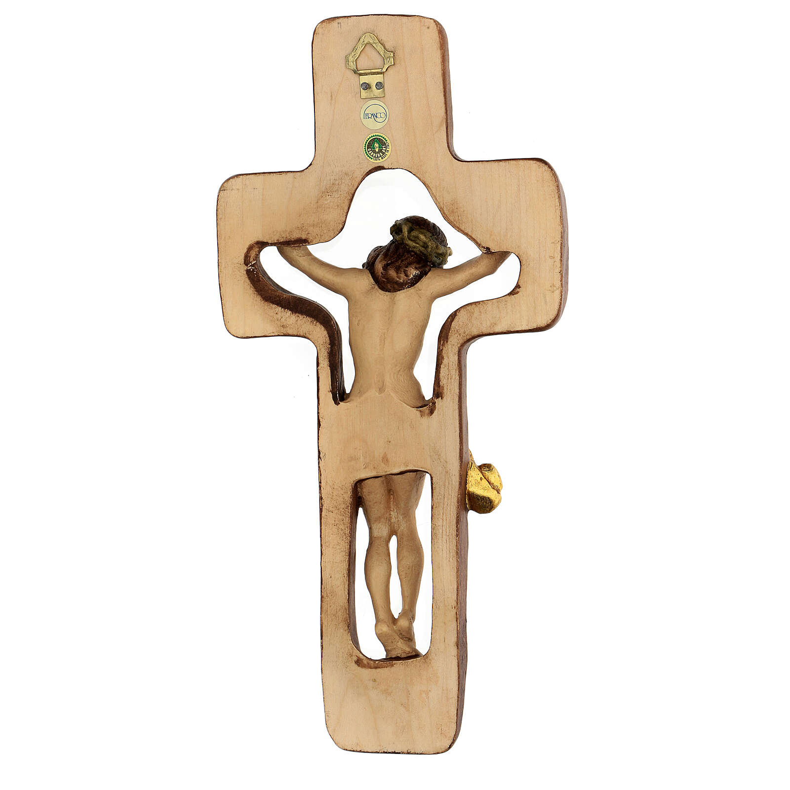 STOCK Crucifijo madera cruz hueca 30 cm 4