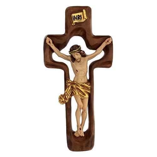 STOCK Crucifix bois croix creuse 30 cm 1