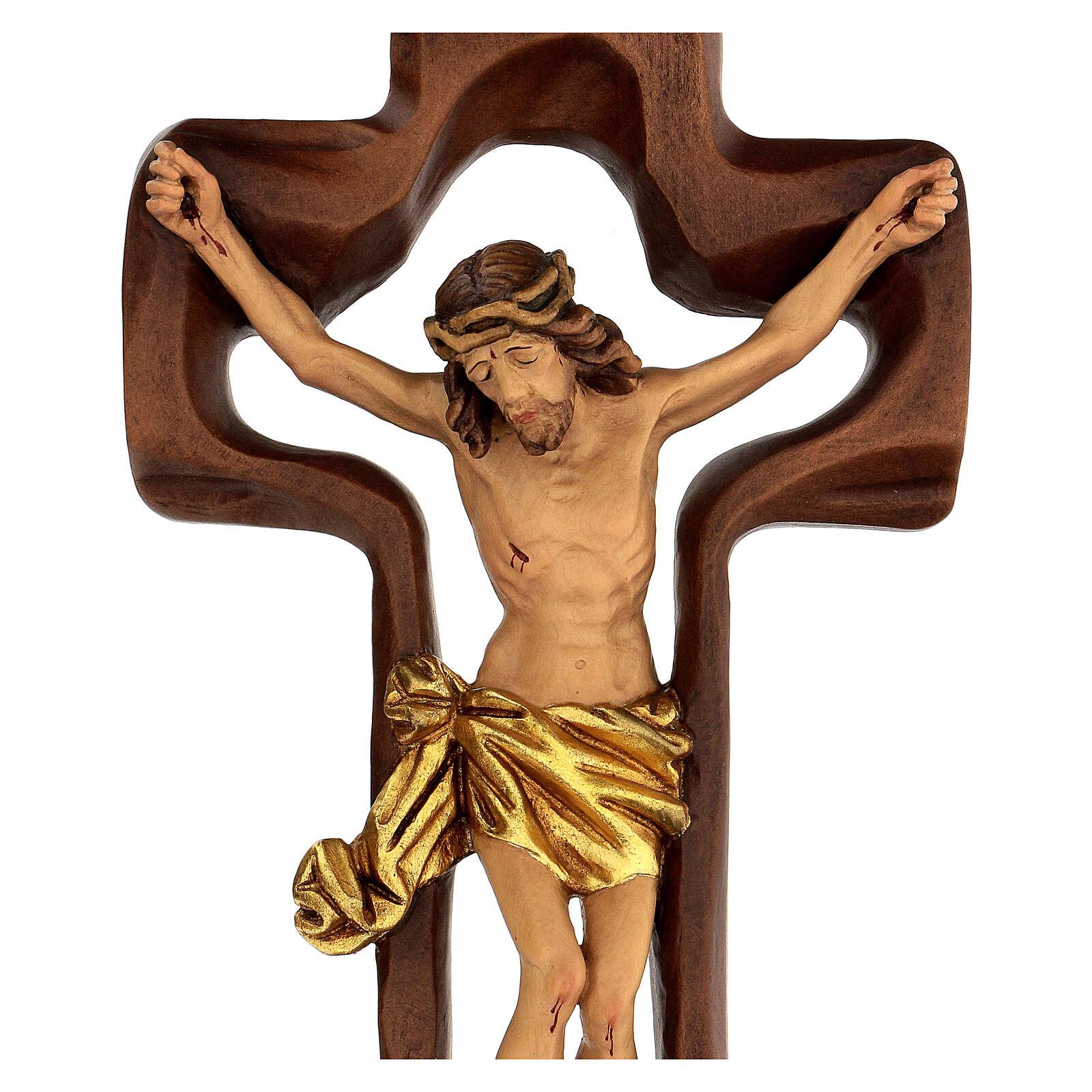 STOCK Crocifisso legno levigato croce cava 46 cm 4