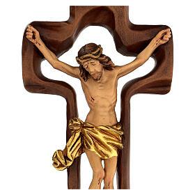 STOCK Crocifisso legno levigato croce cava 46 cm s2