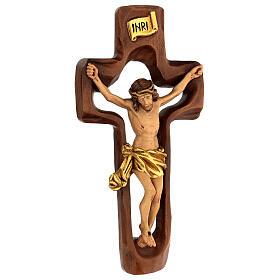 STOCK Crocifisso legno levigato croce cava 46 cm s3