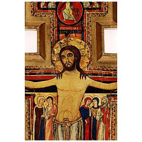 STOCK Croce San Damiano legno stampa serigrafata h. 50 cm s2