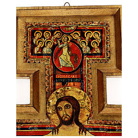 STOCK Croce San Damiano legno stampa serigrafata h. 50 cm s4