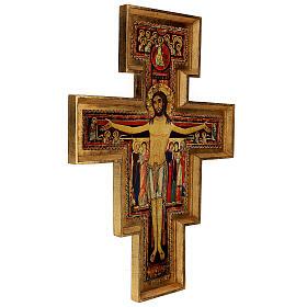 STOCK Croce San Damiano legno stampa serigrafata h. 50 cm s5