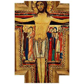 STOCK Croce San Damiano legno stampa serigrafata h. 50 cm s6