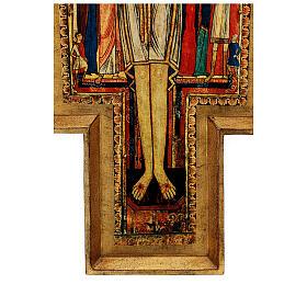 STOCK Croce San Damiano legno stampa serigrafata h. 50 cm s8