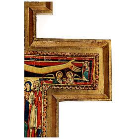 STOCK Croce San Damiano legno stampa serigrafata h. 50 cm s9