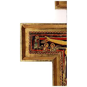 STOCK Croce San Damiano legno stampa serigrafata h. 50 cm s10