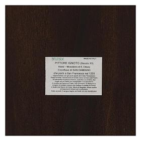 STOCK Croce San Damiano legno stampa serigrafata h. 50 cm s11