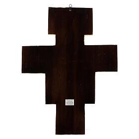 STOCK Croce San Damiano legno stampa serigrafata h. 50 cm s12
