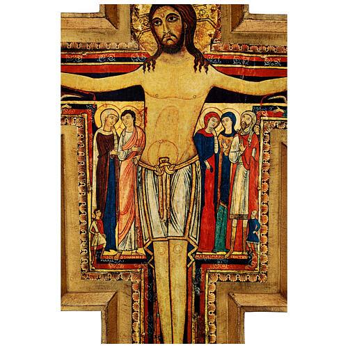STOCK Croce San Damiano legno stampa serigrafata h. 50 cm 6