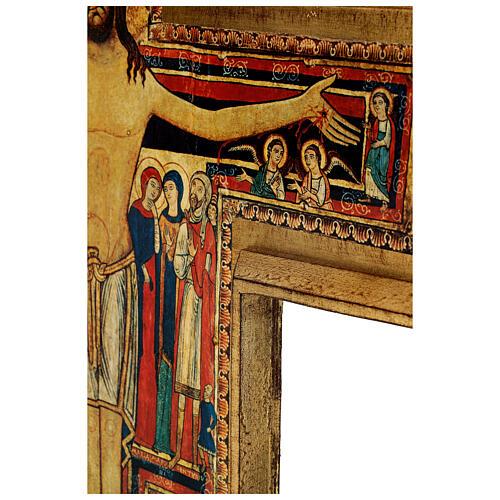 STOCK Croce San Damiano legno stampa serigrafata h. 50 cm 7