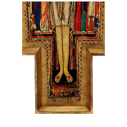 STOCK Croce San Damiano legno stampa serigrafata h. 50 cm 8