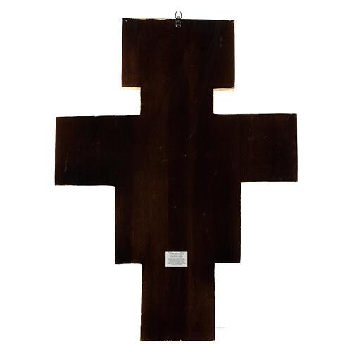STOCK Croce San Damiano legno stampa serigrafata h. 50 cm 12