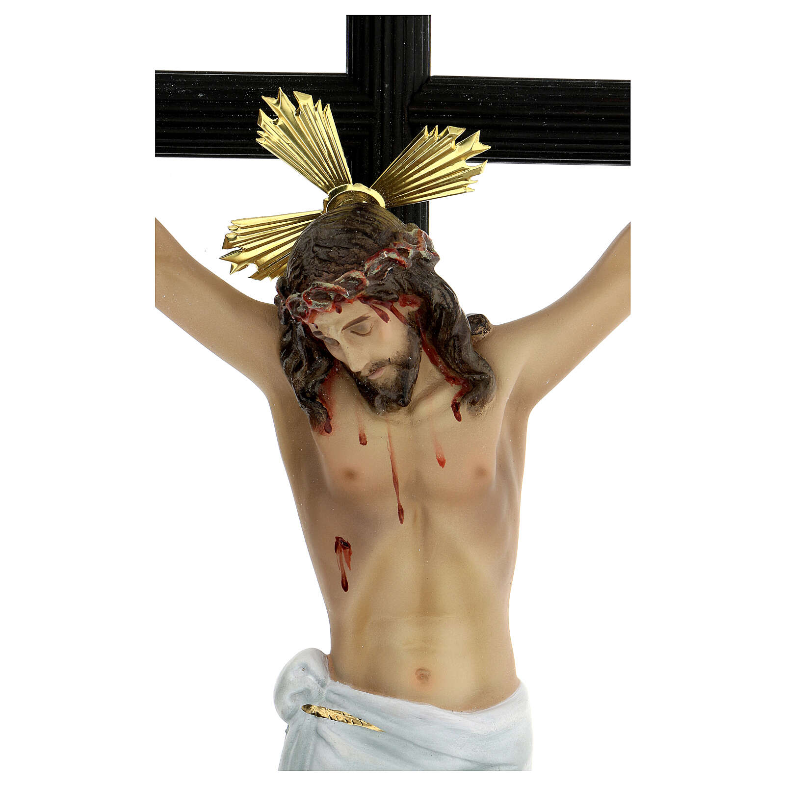 Crucifix pâte à bois 70 cm déc. élégante avec croix Motlla 4