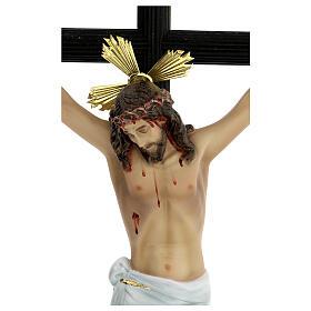 Crocifisso pasta di legno 70 cm dec. elegante con croce Motlla s2