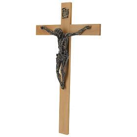 Crucifix Fontanini 100 cm croix bois corps résine effet bronze s5