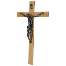 Crocifisso Fontanini 100 cm croce legno corpo resina bronzato s5