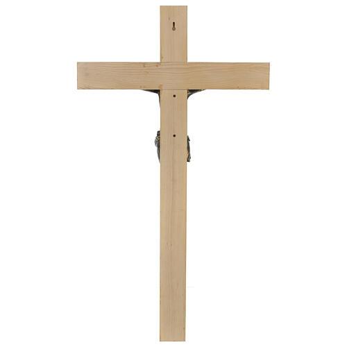 Crocifisso Fontanini 100 cm croce legno corpo resina bronzato 8