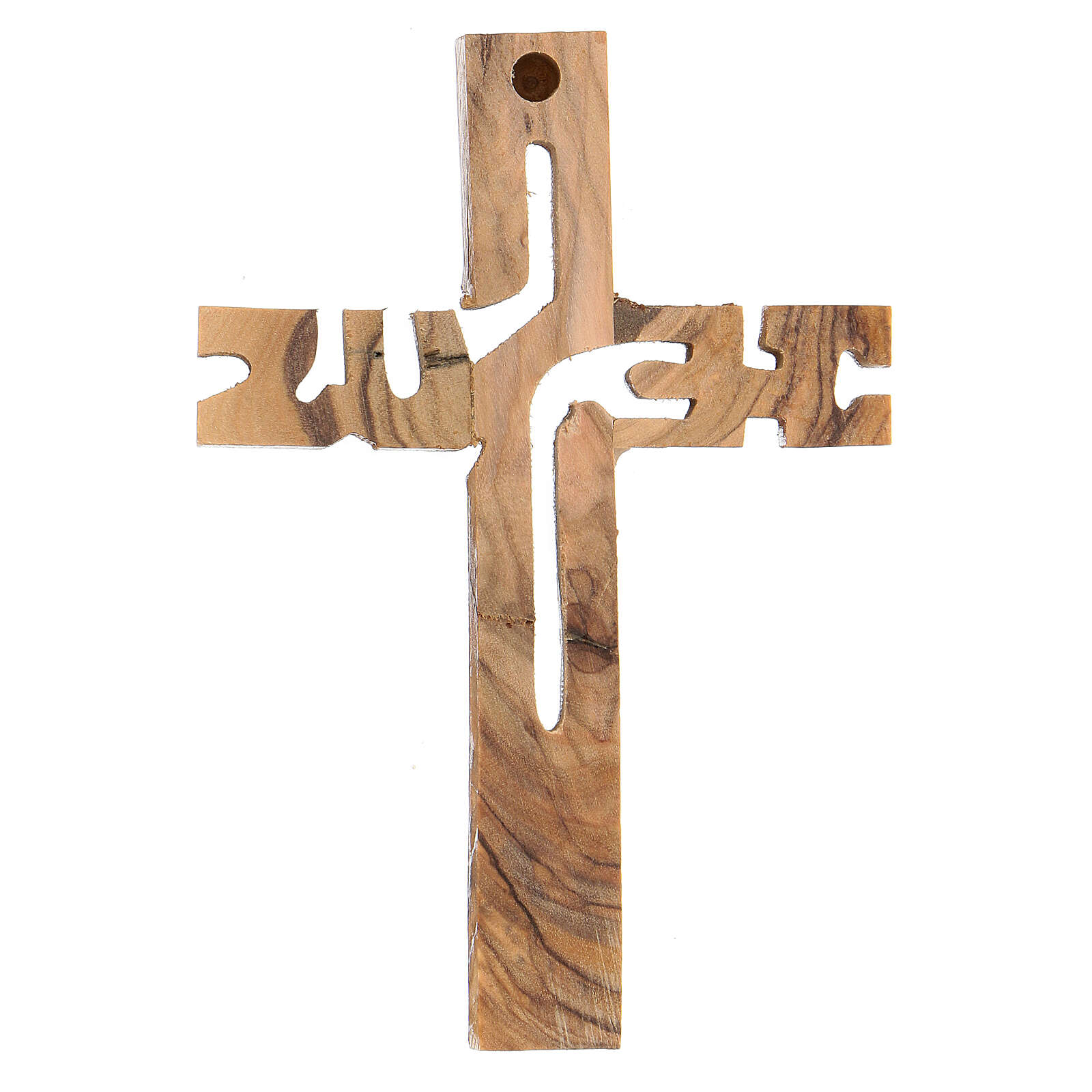 Croix murale Jesus bois olivier Palestine 4
