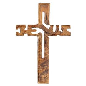 Croix murale Jesus bois olivier Palestine s1