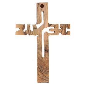Croix murale Jesus bois olivier Palestine s3