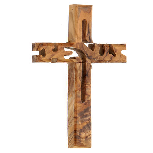 Croix murale Jesus bois olivier Palestine 2