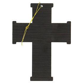 Croce da muro Albero della Vita legno ulivo Betlemme 13 cm s5
