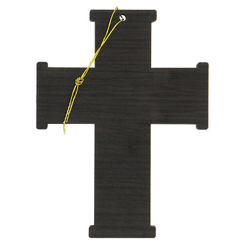 Croce da muro Albero della Vita legno ulivo Betlemme 13 cm 5