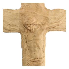 Crocifisso legno di lenga scolpito a mano 35x25x5 cm Mato Grosso s2