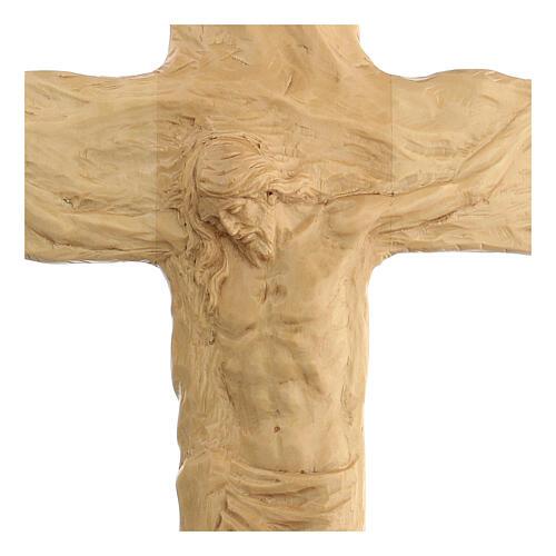 Crocifisso legno di lenga scolpito a mano 35x25x5 cm Mato Grosso 2