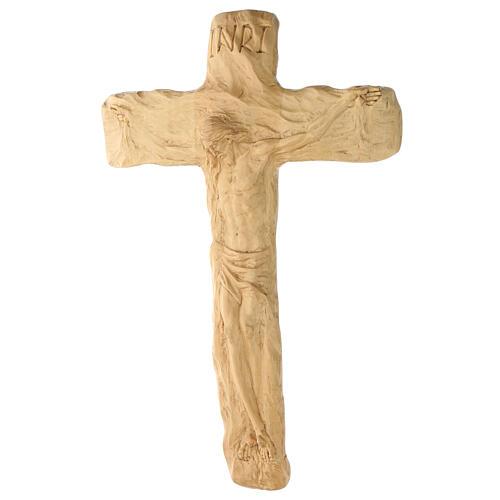 Crocifisso legno di lenga scolpito a mano 35x25x5 cm Mato Grosso 4
