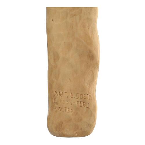 Crocifisso legno di lenga scolpito a mano 35x25x5 cm Mato Grosso 5