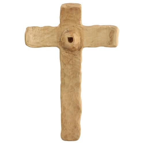 Crocifisso legno di lenga scolpito a mano 35x25x5 cm Mato Grosso 6
