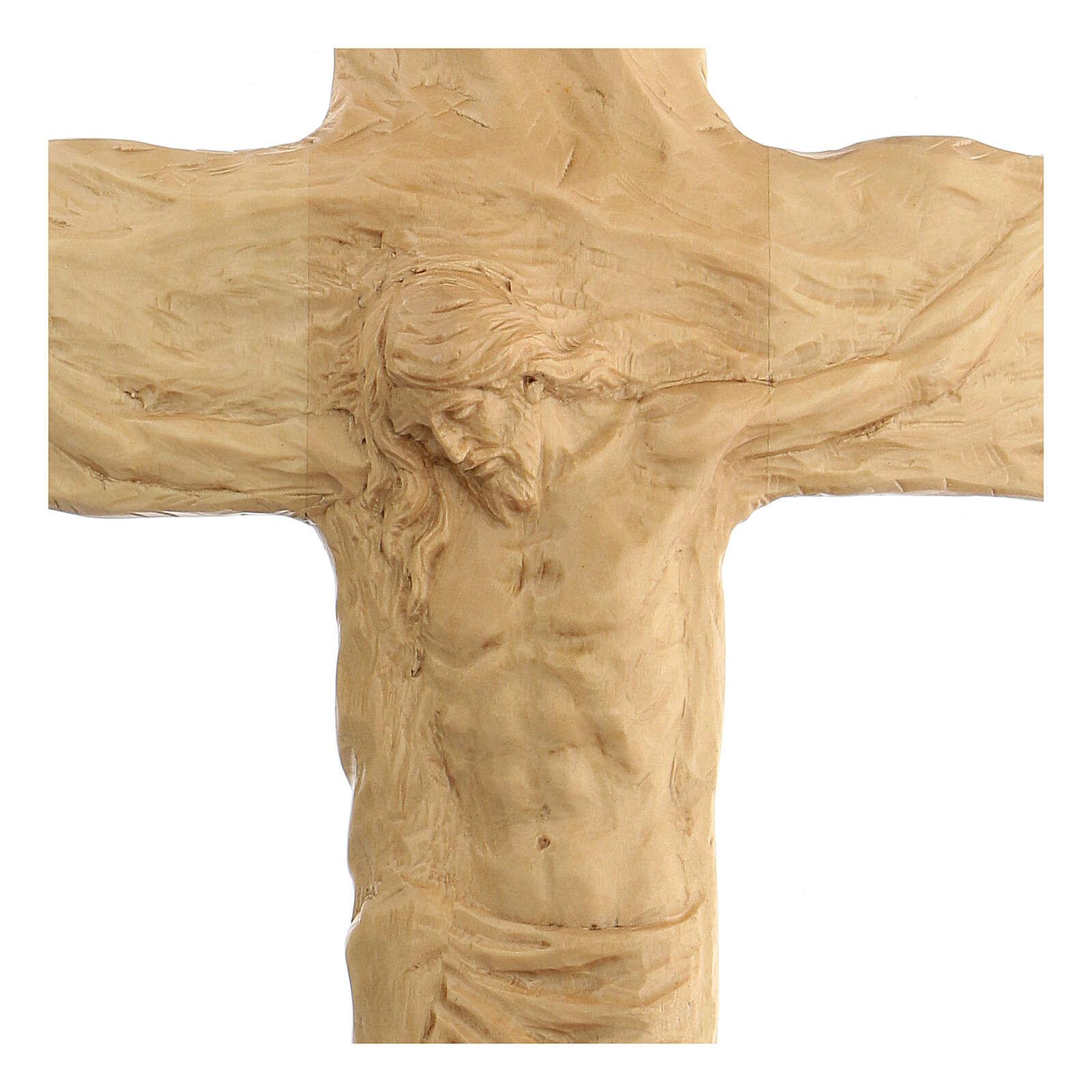 Crucifixo madeira de lenga esculpida à mão 35x25x5 cm Mato Grosso 4