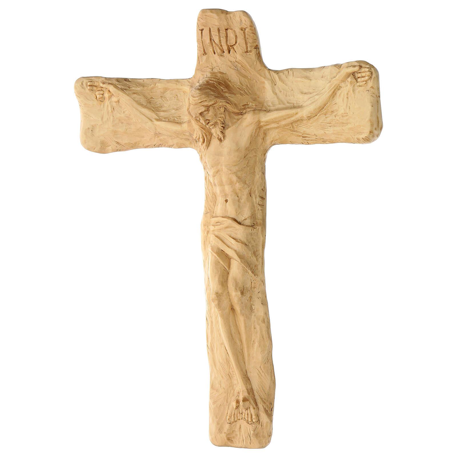 Crucifixo em madeira de lenga esculpido à mão 35x25x5 cm Mato Grosso 4